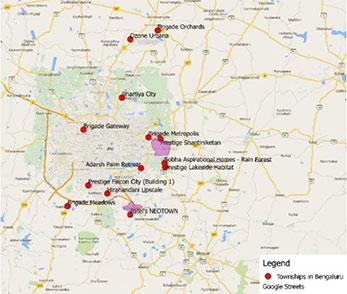 Townships in and around Bengaluru