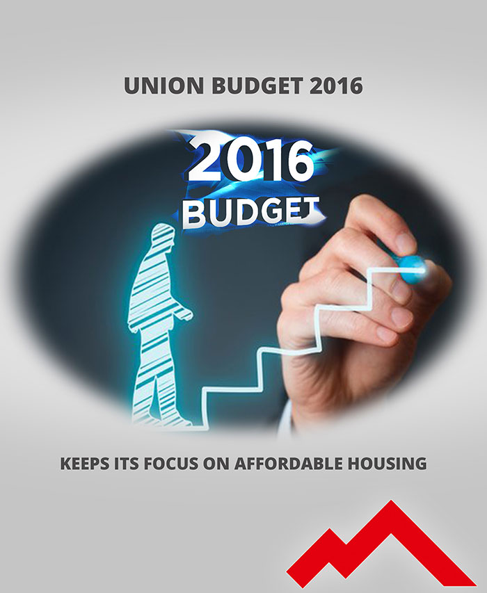 Union Budget 2016. KEEP ITS FOCUS ON AFFORDABLE HOUSING